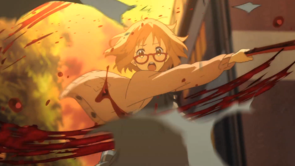 Mirai kills a bucket in Beyond the Boundary