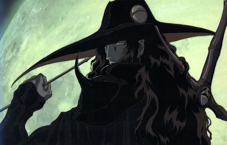 D from Vampire Hunter D has the tall-dark-mysterious-stranger thing down.