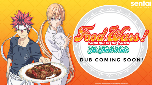Soma and Erina pose for Food Wars! The Third Plate.