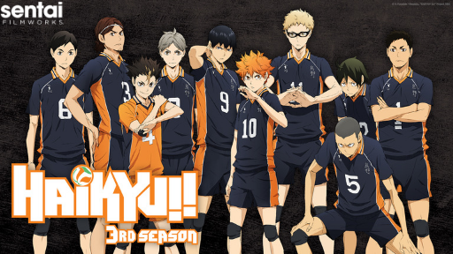 Team Karasuno pose for Haikyu!! 3rd Season