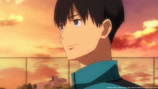 Kakeru from Run with the Wind smiles.