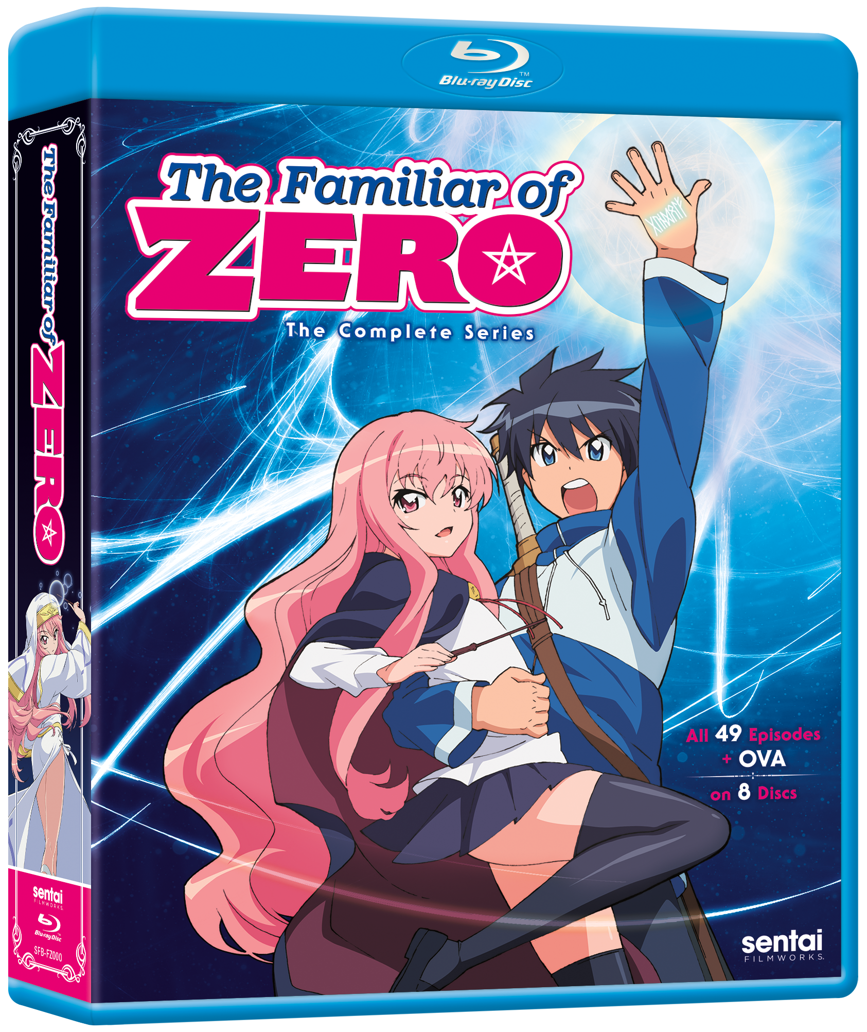 A picture of the The Familiar of Zero The Complete Series Blu-ray.