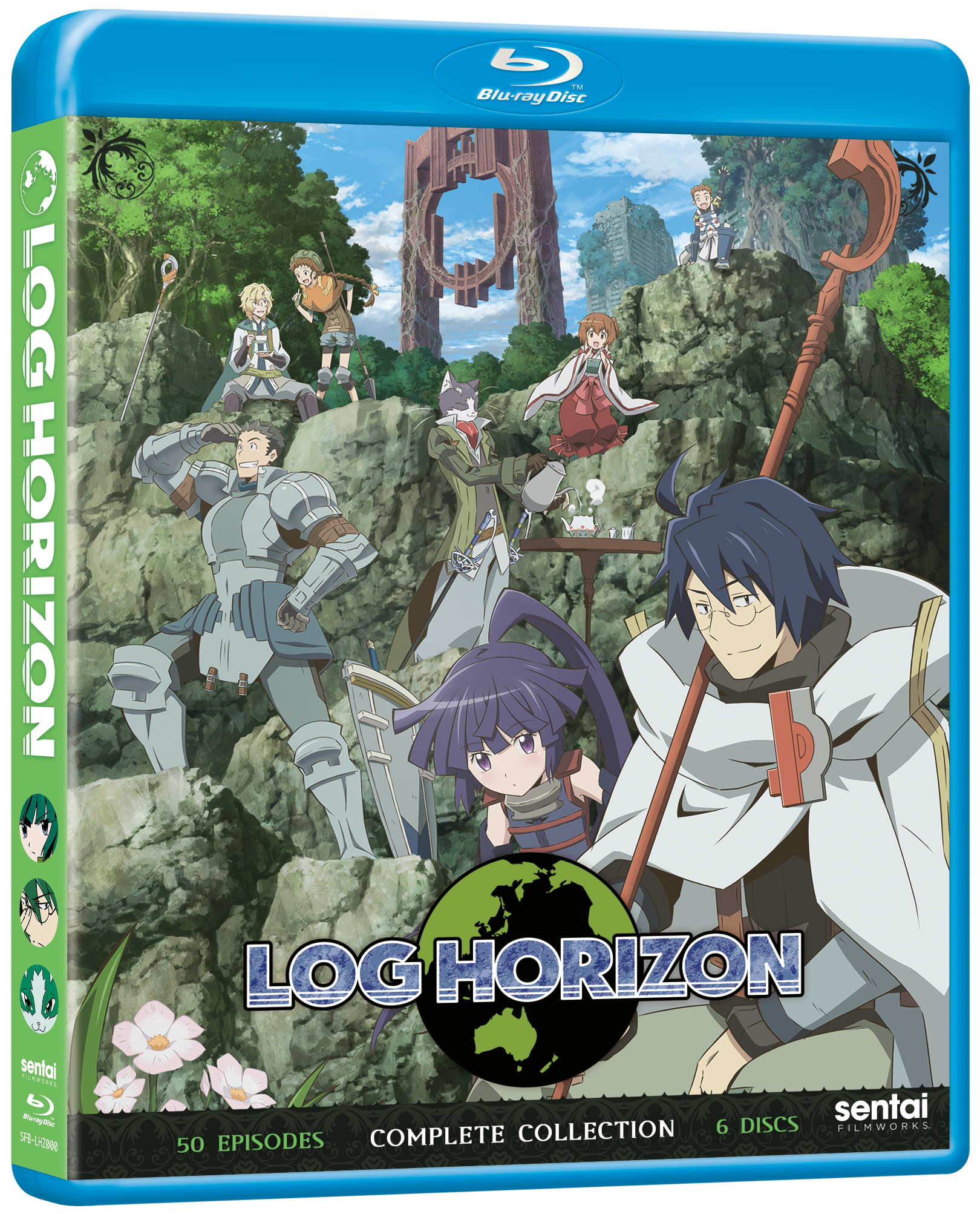 A picture of the Log Horizon Complete Collection Blu-ray.