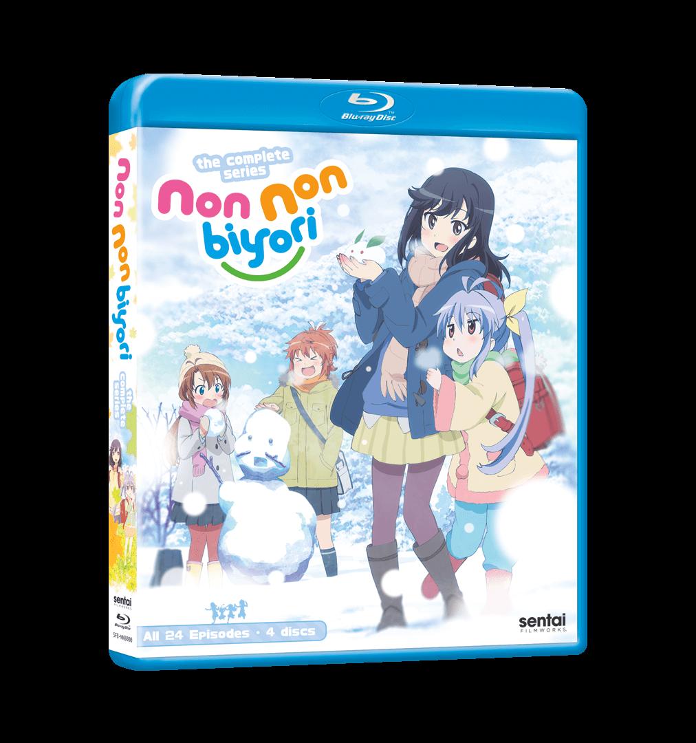 A picture of the Non Non Biyori Complete Series Blu-ray.