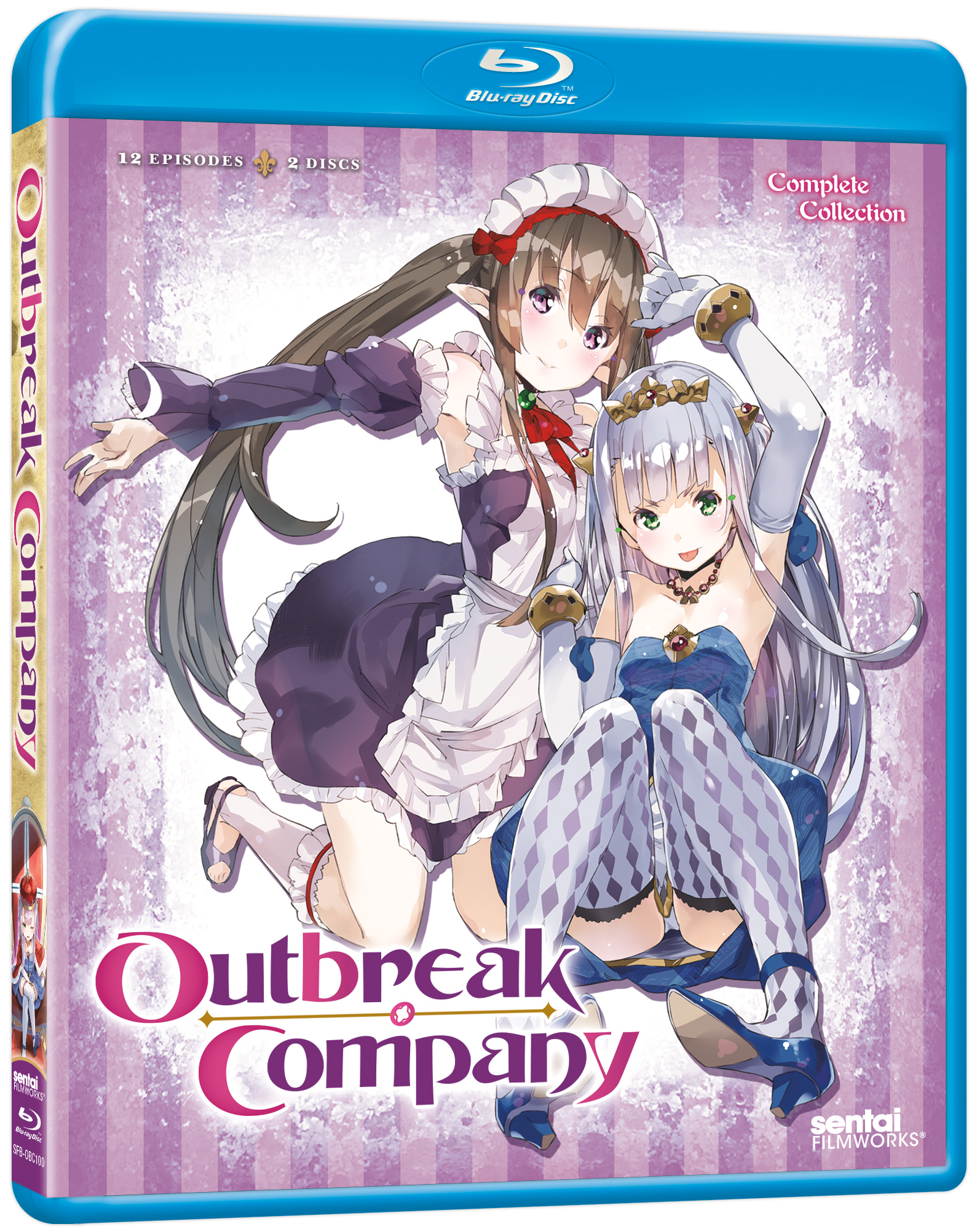 A picture of the Outbreak Company Blu-ray.