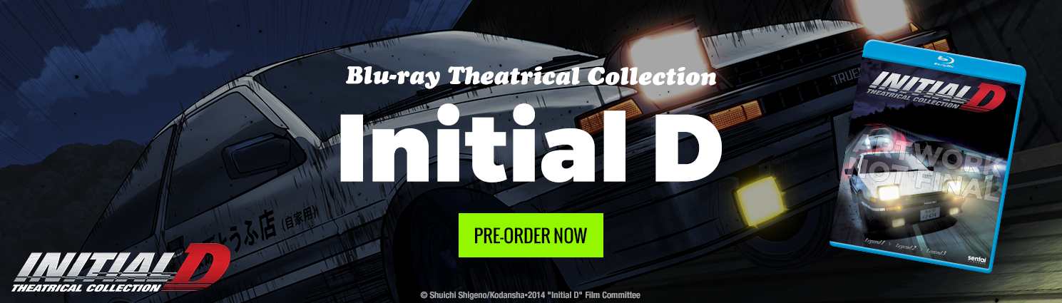 Pre-Order the Initial D Theatrical Collection Today!